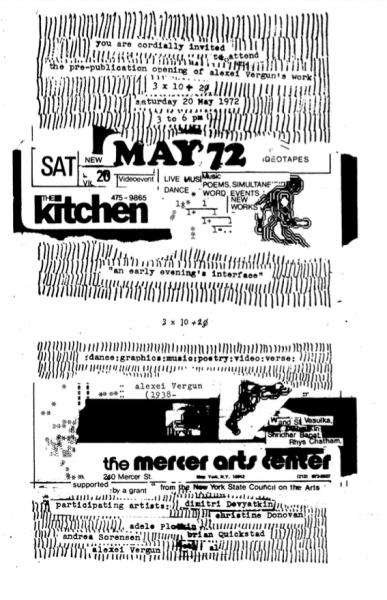 Vašulka Kitchen Brno Archiv, plakáty The Kitchen
