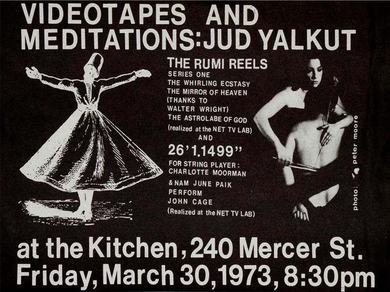 Plakát Videotapes and Meditations: Jud Yalkud, 1973 (z archivu Vašulka Kitchen).
